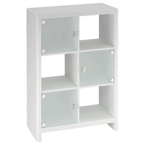 Kathy Ireland By Bush New York Skyline Cube Bookcase In White Cube Bookcase