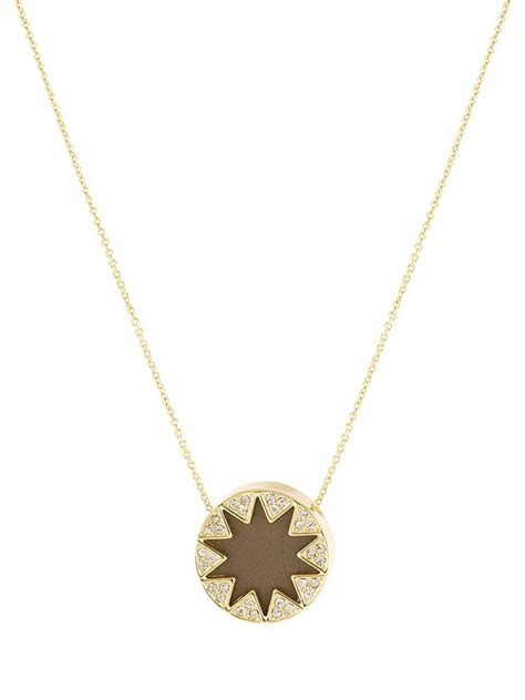 House Of Harlow Jewelry by House Of Harlow 1960 Mini Pave Sunburst Necklace In Gold