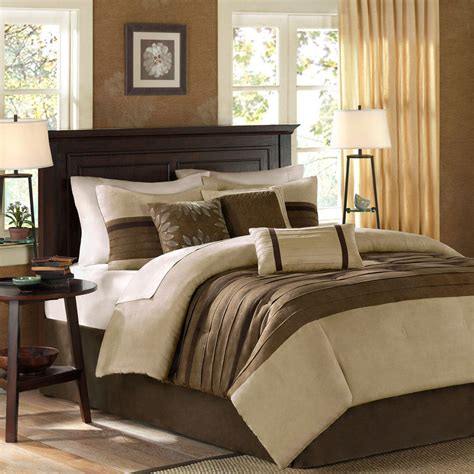 tan bedding set beautiful ultra soft modern brown taupe beige tan pintuck