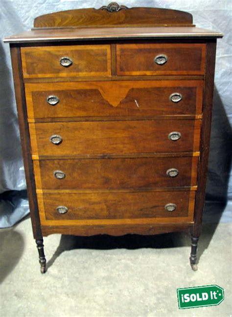 Antique Dresser On Wheels by Large Antique Vintage Vertical Dresser 6 Drawer Dovetail