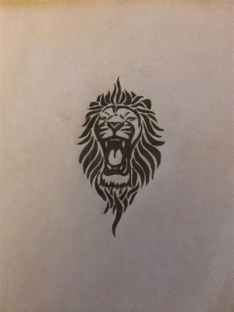 tribal tattoos lion head tribal for my left inner forearm ink
