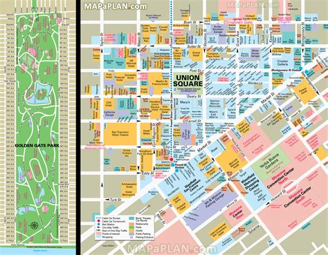 san francisco downtown map union square san francisco map union square