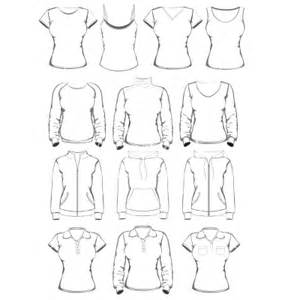 clothing templates collection of clothes outline templates vector