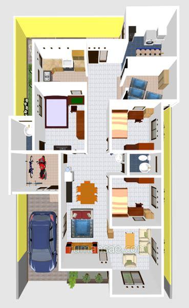 desain rumah 3 kamar mushola denah rumah 3 kamar tidur 1 mushola dalam rumah terbaru