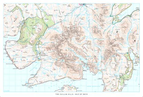 printable map skye the cuillin hills isle of skye