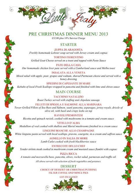 christmas dinner party menus christmas dinner party menus