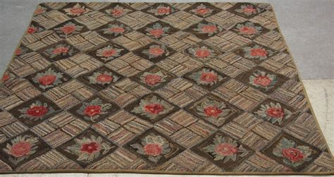 antique hooked rug home decor