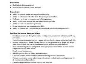 office assistant description sle templatezet