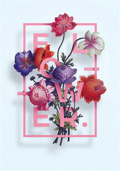 Poster Flowers by 40 Floral Typography Designs That Combine Flowers Text