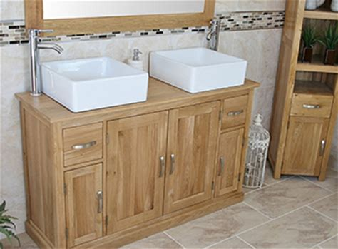 oak bathroom furniture vanity units cabinets amp more