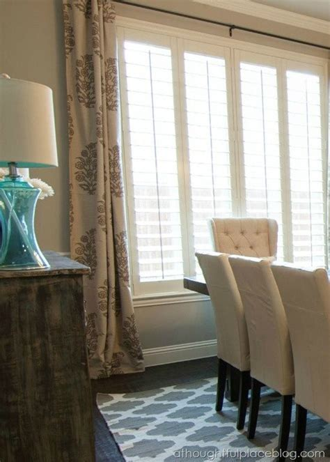 drapes with plantation shutters best 25 dining room curtains ideas on pinterest living