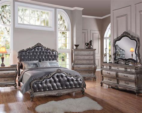 classic style bedroom set chantelle  acme furniture acset