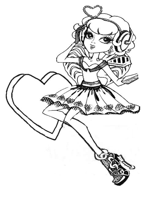 monster high coloring pages cupid pin monster high cupid coloring page on pinterest