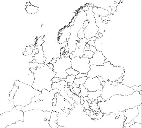 europe outline map with country names 2 fa18rabo world map outline with country names
