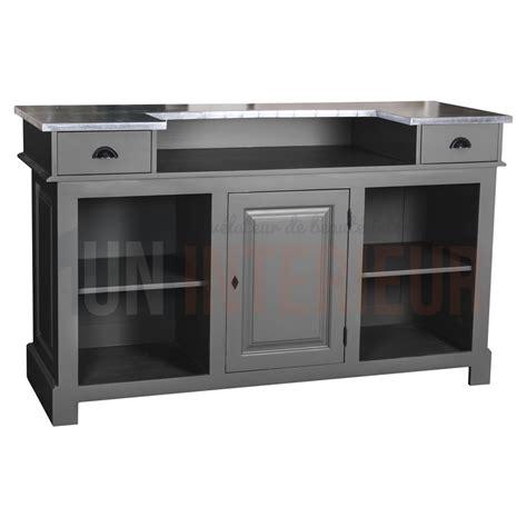 comptoir bistrot comptoir de bar 150cm plateau zinc ou pin