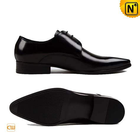 mens leather lace up derby dress shoes cw762024