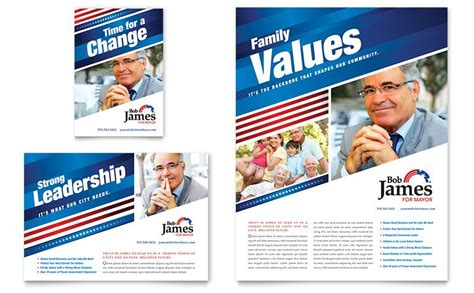 political campaign flyer ad template design