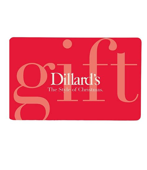 Dillard Gift Card - the style of christmas red gift card dillards