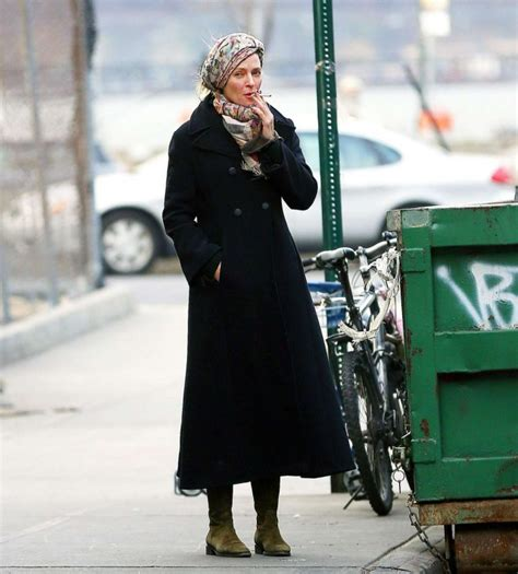Uma Thurman Breaks Wrist On Set by Uma Thurman Goes For A Smoke In New York 04 Gotceleb