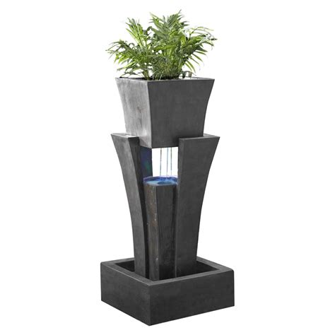 Planter Lights by Kontiki Water Features Faux Fountains Raining