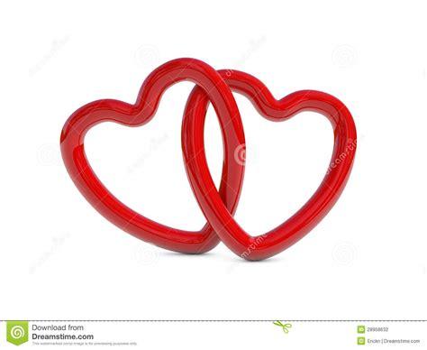 imagenes de corazones entrelazados intertwined red heart rings stock photography image