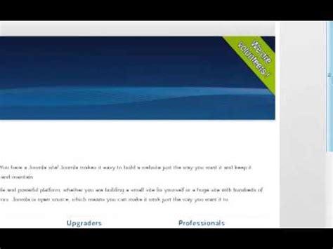 tutorial create website using joomla dynamic website tutorial part 1 design website using