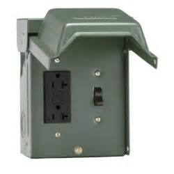 ge 20 amp backyard outlet with switch and gfi receptacle u010s010grp the home depot