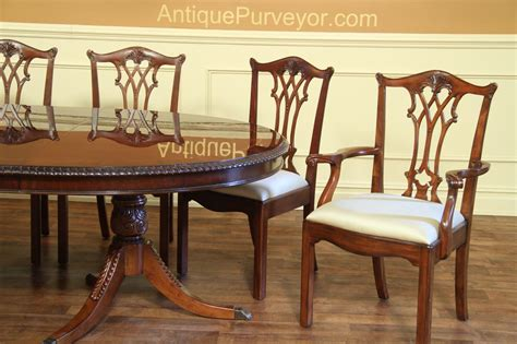 Chippendale Dining Room Chairs by Antique Reproduction Solid Mahogany Chippendale Dining Chairs