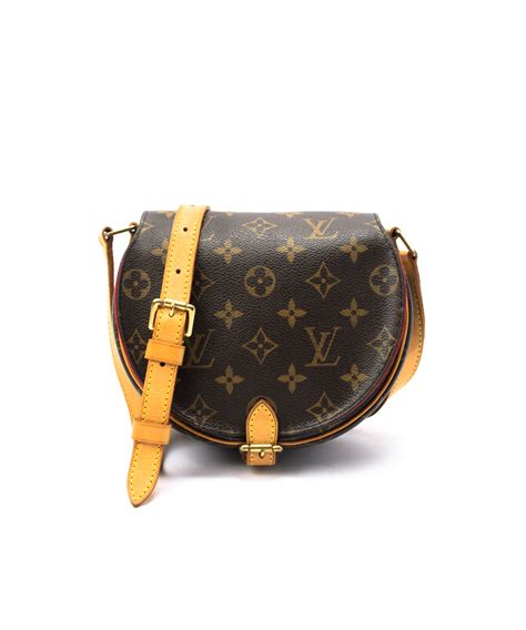 Lv Crossbody louis vuitton brown monogram canvas tambourine vintage
