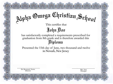 Printable Diploma Template It Resume Cover Letter Sle Diploma Certificate Template Free