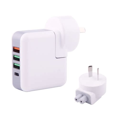 Travel Charger 2in1 Xiaomi au portable qc3 0 5v 2 4a 3 usb ports 1 type c port travel charger for macbook