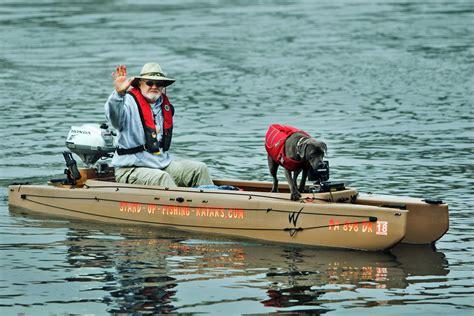 dog vs boat tandem fishing kayak wavewalk 174 fishing kayaks boats and