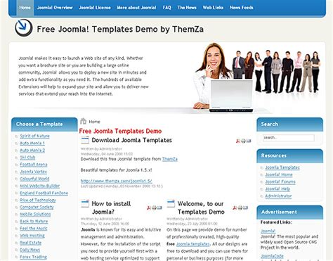 free joomla 1 5 x templates business affair by themza