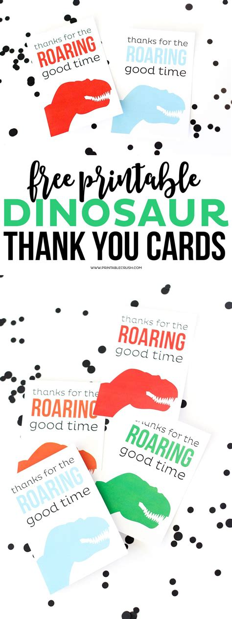 printable birthday cards dinosaur free download these cute and free printable dinosaur thank you
