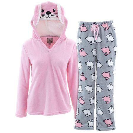 Pj Pj Pajamas pj couture s pink bunny hooded pajamas walmart