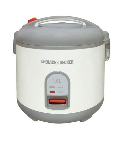 Black Decker Automatic Rice Cooker 1 8 Liter 700 Watt Rc 1860 B1 black decker 1 8 l rc 1820 cooltouch rice cooker white price in india buy black decker 1 8