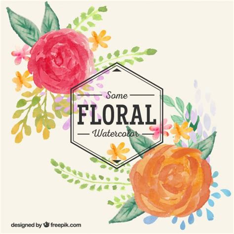 free vector watercolor flowers hand painted watercolor flowers vector free download