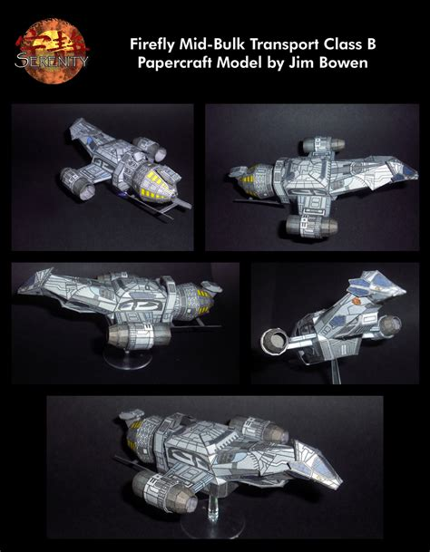 Firefly Papercraft - papercraft model of serenity by newobmij