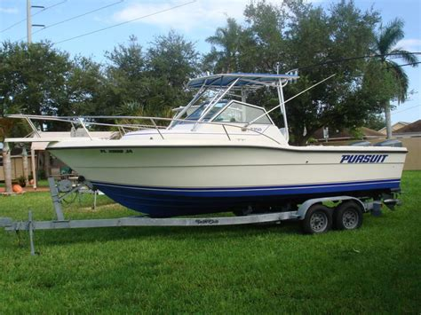 pursuit boats miami fl 1991 used pursuit 2350 walkaround fishing boat for sale