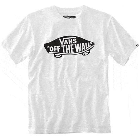 T Shirt Vans White The Wall vans boys t shirt the wall white