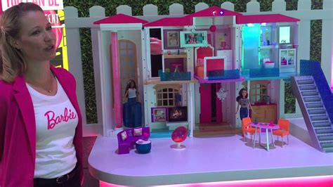 biggest barbie doll house barbie hello dreamhouse is world s first doll smart house