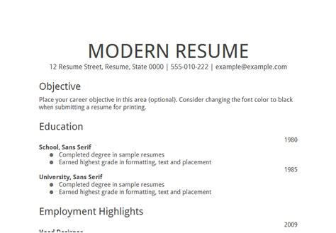 Resume Employment Objectives Search Tolls 50 Objectives Statements To Be Customized And Google S Free Resume