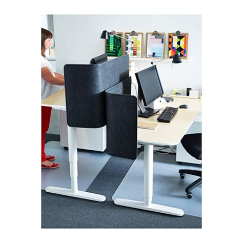s駱arateur de bureau ikea bekant desk sit stand birch veneer white 160x80 cm ikea