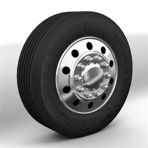 truck wheels 3d wheels trucks model
