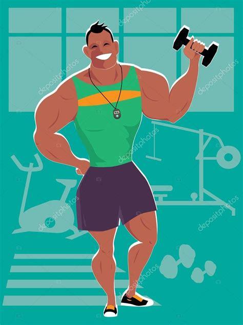 imagenes animadas gym personal trainer en el gimnasio archivo im 225 genes