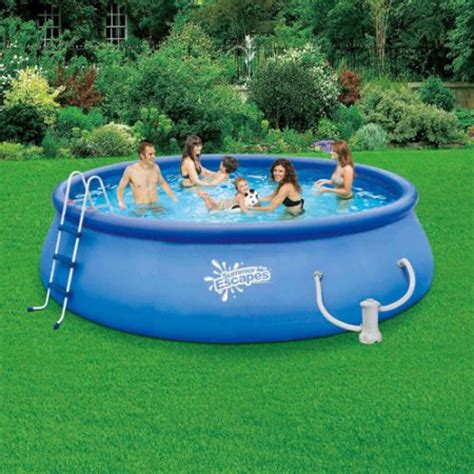 backyard pools walmart summer escapes 15 x 42 quot quick set swimming pool walmart com