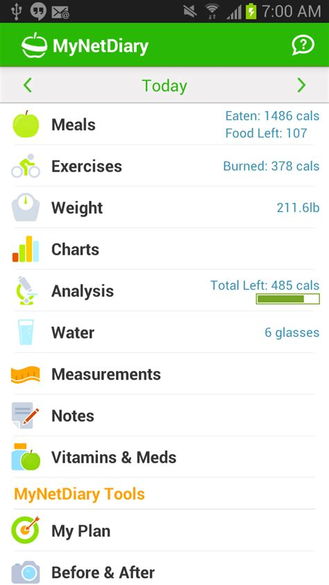 calorie counter app android the best calorie counter and food diary app for android mynetdiary