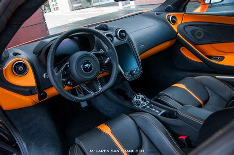 orange mclaren interior ventura orange mclaren 570s coup 233 interior view from