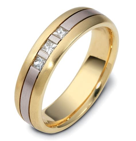 120641pe platinum 18k gold wedding ring