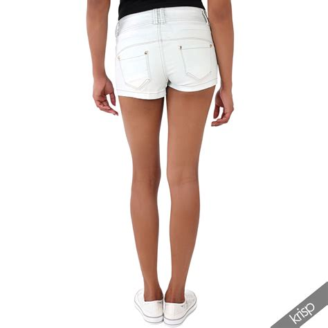 Summer Shorts by Womens Micro Mini Stretch Denim